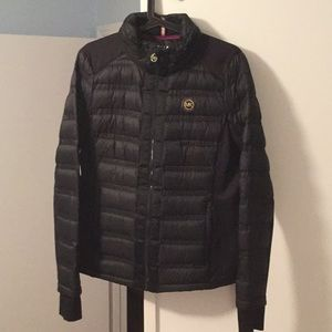 Black Michael kors down materia jacket